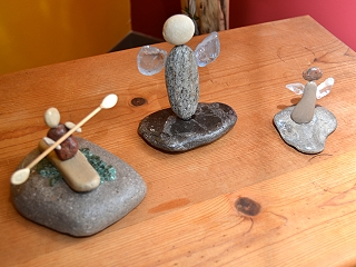 Mary Balleach - Dune People Stone & Beach Glass Sculptures
